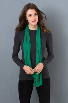 Willow Scarf. Clear Winter
