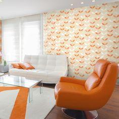 "Brewster Home Fashions Elements Ernst Linear Leaf 33' x 20.5"" Floral Embossed Wallpaper"