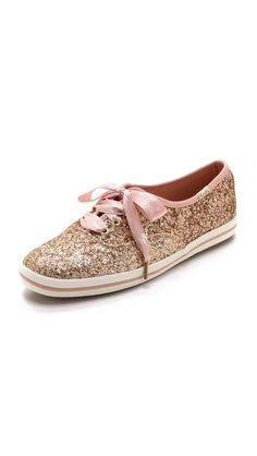 keys for kate spade rose gold glitter sneakers