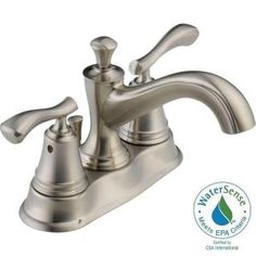 Sentiment 4 in. Centerset 2-Handle Bathroom Faucet in Stainless