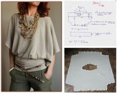 DIY Easy Blouse - FREE Sewing Pattern and Tutorial