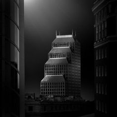 "Photographer Dennis Ramos is behind ""Praetextus,"" a series of black and white long exposure images of architecture that look very surreal. Germany Photography, France Photography, Fine Art Photography, White Photography, Gotham City, Photo D'architecture, Black And White City, Banks Building, Florida Usa"