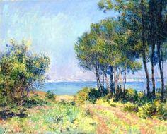 Claude Monet: Les sapins à Varengeville, 1882