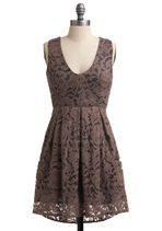 Neutral with a touch of lace to soften the dark colors.