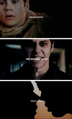 And suddenly the monster in him fell silent. Stiles Stilinski and Lydia Martin tumblr #teenwolf #Stydia