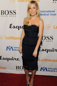 Style File - Sienna Miller, October 15, 2010: Sienna in a black strapless dress to host the 'Grand Opening of Esquire House LA to benefit International Medical Corps' at The Esquire House in Los Angeles, California.