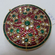 22 K gold marked Kundan Diamond jewelry by TRIBALEXPORT on Etsy, $2499.00