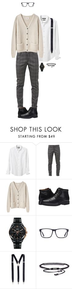 """o yeah..."" by dance4ever1222 ❤ liked on Polyvore featuring Banana Republic, Dondup, La Garçonne Moderne, Rockport, Rado, Albert Thurston, men's fashion and menswear"