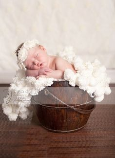 Can you see the 'Angel Wings?' Photography Prop Blanket by BabyBirdz looks like wings when arranged behind baby! $65.00