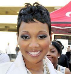 African American Short Black Wavy Hairstyle 2013 via woohair.com