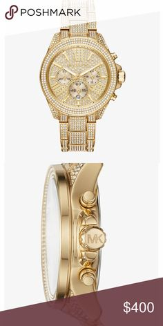 Micheal Kors watch. The watch is a Wren Pavé Gold-Tone Watch never worn brand new in the box. Can be worn by a male or female. Michael Kors Jewelry