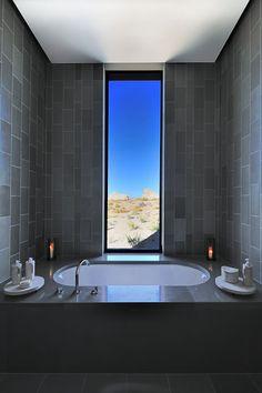 desierto baño suite con vistas