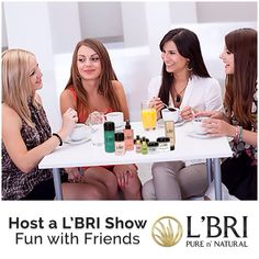 Introduce your friends to L'BRI PURE n' NATURAL products and you will earn some great Hostess Rewards. In the month of April you will get an additional $50 Hostess Credit to spend with your qualified Show! Contact your L'BRI Consultant today to schedule yours. Your friends (and their skin!) will thank you! #homeparty #directsales #partyplan skincare #lbri