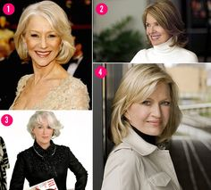 Hairstyles for Women Over 60 | Helen Mirren , 66, at the 2009 Oscars.