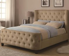 Upholstered Beds King Upholstered Bed by Coaster...love it!