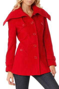 Vertigo Celine Coat In Dark Red. I'd like it in a pea coat better.