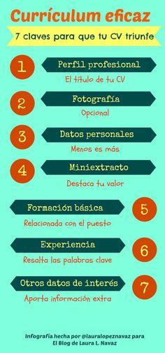 #Curriculum eficaz:7 claves para que tu CV sea el triunfador #Infografia #infographic