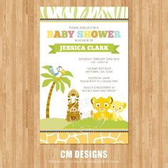 lion king baby shower | Lion King Baby Shower Invitation by DesignsbyCassieCM on Etsy