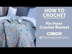 Caron Pin Point Crochet Blanket, Crochet Pattern  | Yarnspirations