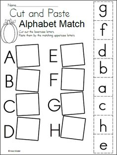 Preschool alphabet worksheets and coloring pages help your little one master all the letters of the alphabet. Check out our preschool alphabet printables. Letter Worksheets For Preschool, Matching Worksheets, Free Kindergarten Worksheets, Preschool Letters, Letter Activities, Free Preschool, Preschool Learning Activities, Free Printable Alphabet Worksheets, Alphabet Activities Kindergarten