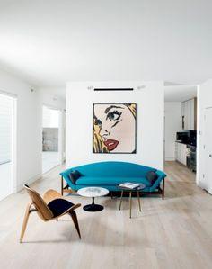 minimalist pop art living room decor