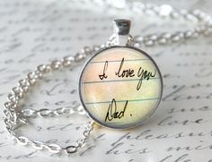 Handwriting Jewelry Personalized Necklace Keepsake by LMGjewelry
