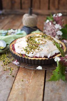 Erdbeer Rhabarber Meringue Pie - Strawberry Rhubarb Meringue (19)