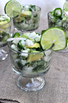 Fed & Fit » Paleo Ceviche Verde