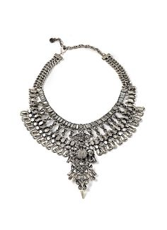 Silver & Swarovski Crystals Necklace - Dylanlex #bohemian #silver #necklace