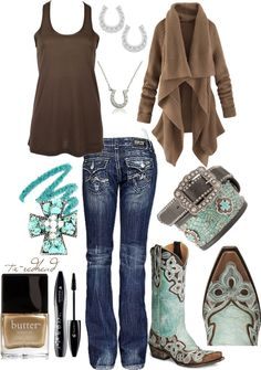 """Lucky Turquoise"" by tx-redhead on Polyvore"