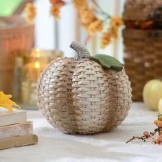 Cream Wicker Pumpkin   Kirklands