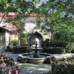 I want a courtyard with trees....hummmm how to get one?