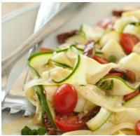 Meatless Monday Recipe: Raw Vegetable Pasta with Tomatoes and Herbs