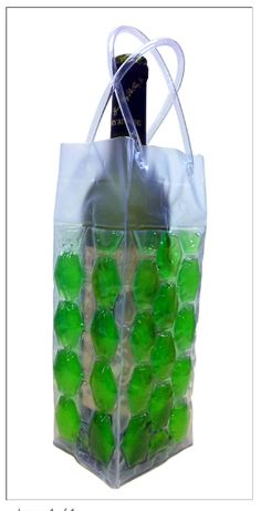 Cool Sack Wine Totes - Green 4 Sided Gel Filled $7.95 - Great when you are bringing wine somewhere!