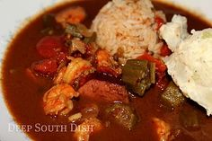 Shrimp Gumbo with Microwave Roux