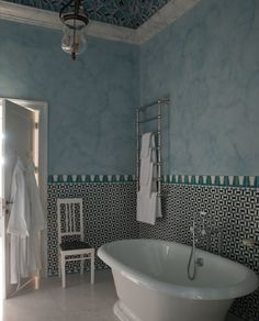 Unbelievable tile work. designed by Jacques Grange in an Italian  Pallazzo, Villa Margherita, owned by Francis Ford Coppola.