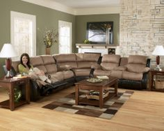 Presley Cocoa Reclining Sectional