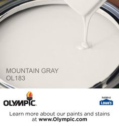 MOUNTAIN GRAY OL183 is a part of the off-whites collection by Olympic® Paint.