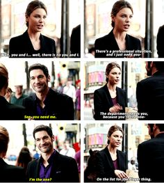 chloe and lucifer --- 1x04: Manly Whatnots