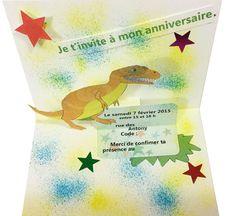Carte popup dinosaure