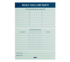Be inspired to track your goals and habits progress with this gorgeous Weekly Goals & Habits Pad. With 60 pages for logging your progress, also take note of your most important, top 3 goals each week and be prompted to record achievements along the way.