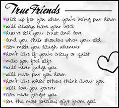 True Friends :) I adore the few that I have...xoxo