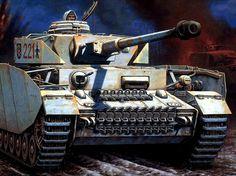 Panzer IV H del Primer Batallón del Panzerregiment nº 35 ( I./pz.Rgt.35) de la 4ª División Acorazada. Hungria, Invierno de 1.944-45. Más en www.elgrancapitan.org/foro/