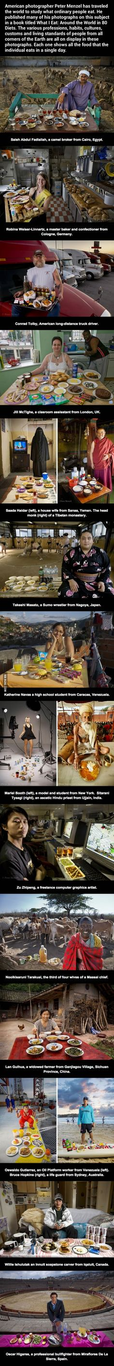 What ordinary people eat around the world