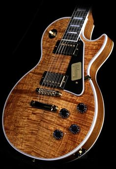 Gibson Custom Shop Les Paul Custom Koa Top Electric Guitar Natural Koa