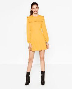 MINI DRESS WITH FRILLS-DRESSES-WOMAN   ZARA United States