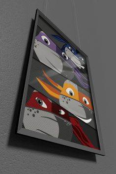 Teenage Mutant Ninja Turtles Poster Print by TheCuttingEdgeShop Ninja Turtle Room, Nerd Decor, Welcome To My House, Teenage Mutant Ninja Turtles, Mask For Kids, Boy Room, Baby Love, Diy For Kids, Kids Bedroom
