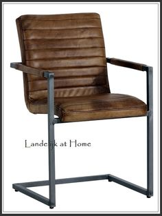 Stoere industriele vintage lederen stoelen