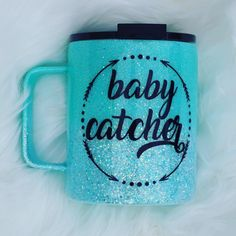 Excited to share this item from my shop: Baby Catcher Glitter Sea Foam Midwife OBGYN OB Nurse Gift 14 Ounce Stainless Steel Coffee Mug Cup Sealed Food Safe Epoxy Resin One of a Kind Ob Nursing, Nursing Gifts, Delivery Nurse Gifts, Midwife Gift, Cricut Tutorials, Cricut Ideas, Stainless Steel Coffee Mugs, Doctor Gifts, Glitter Cups
