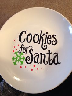 Handmade cookies for Santa plate #DIY